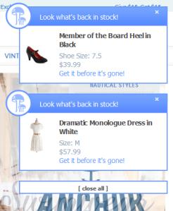 Website's notifications