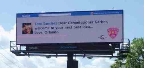 Orlando City Soccer Twitter Billboard MLS visit