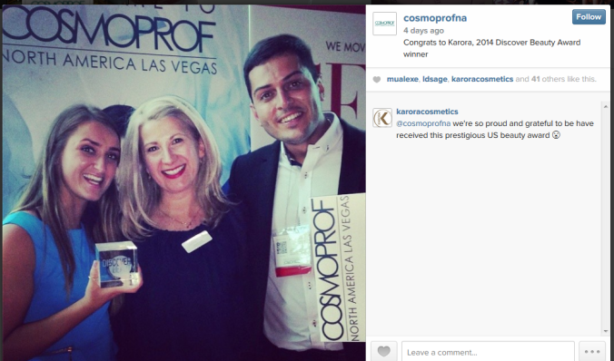 CosmoProf Instagram Discover Beauty Award