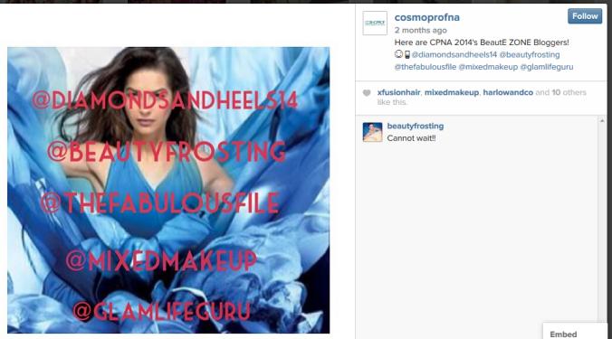 CosmoProf Instagram PreShow Bloggers