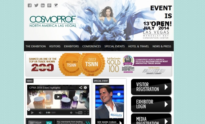CosmoProf Opening Day of Show Website