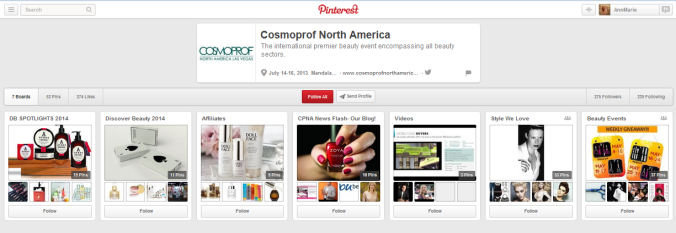CosmoProf Pinterest