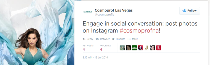 CosmoProf Twitter -- cross promotion