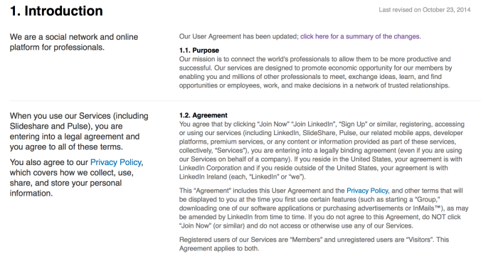 LinkedIn Terms and Conditions
