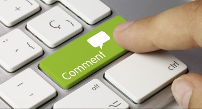 Comment keyboard key. Finger